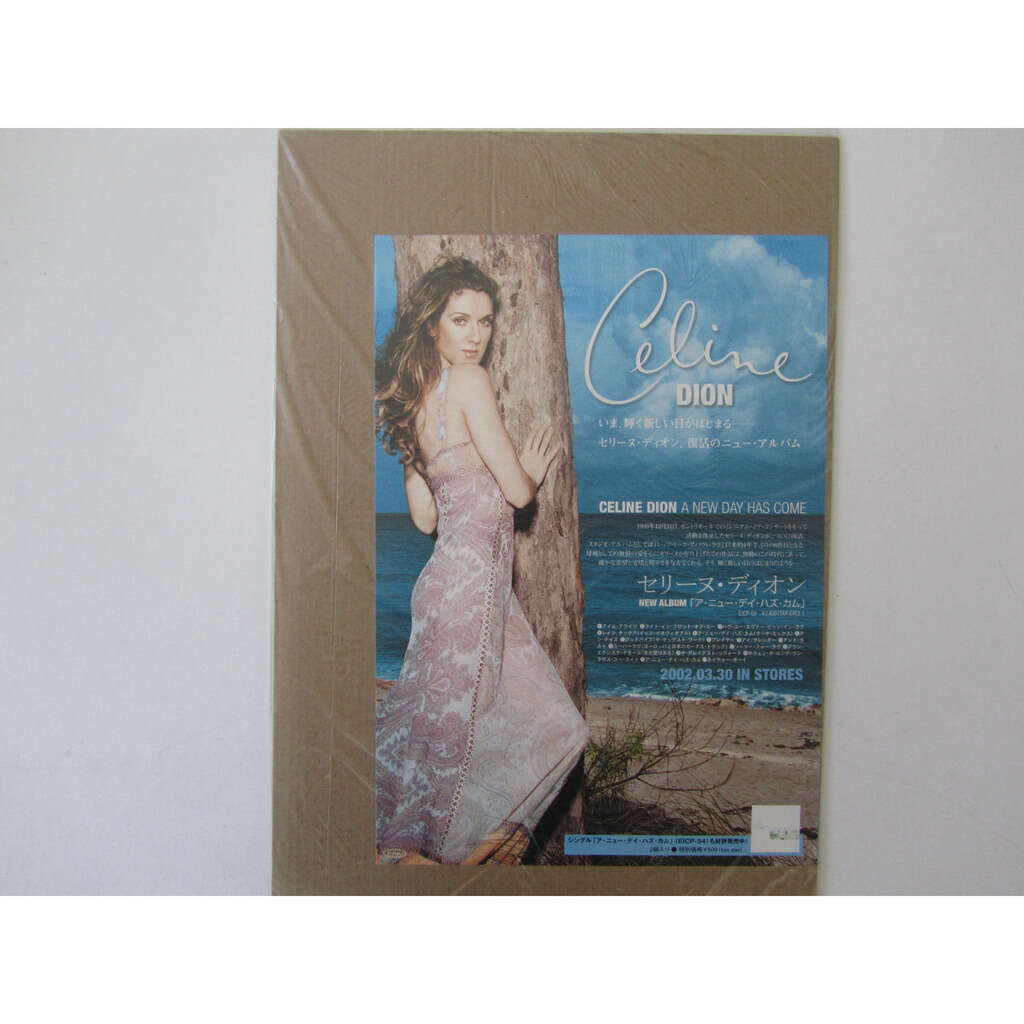 celine dion flyer promo Japon A new day has come .