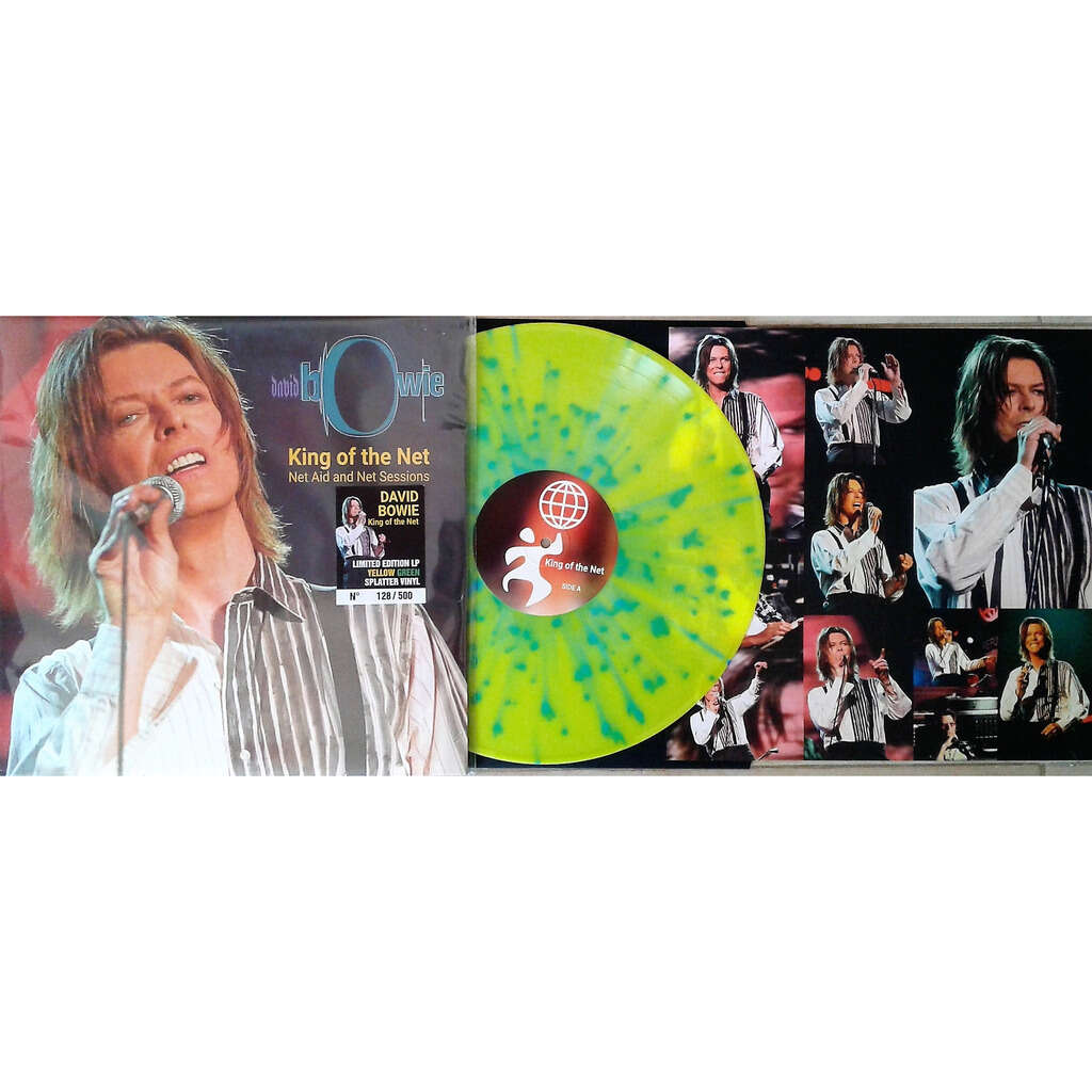 David Bowie King Of The Net (Net Aid And Net Sessions) (Ltd 500 no'd copies LP Yellow Green Splatter wax)