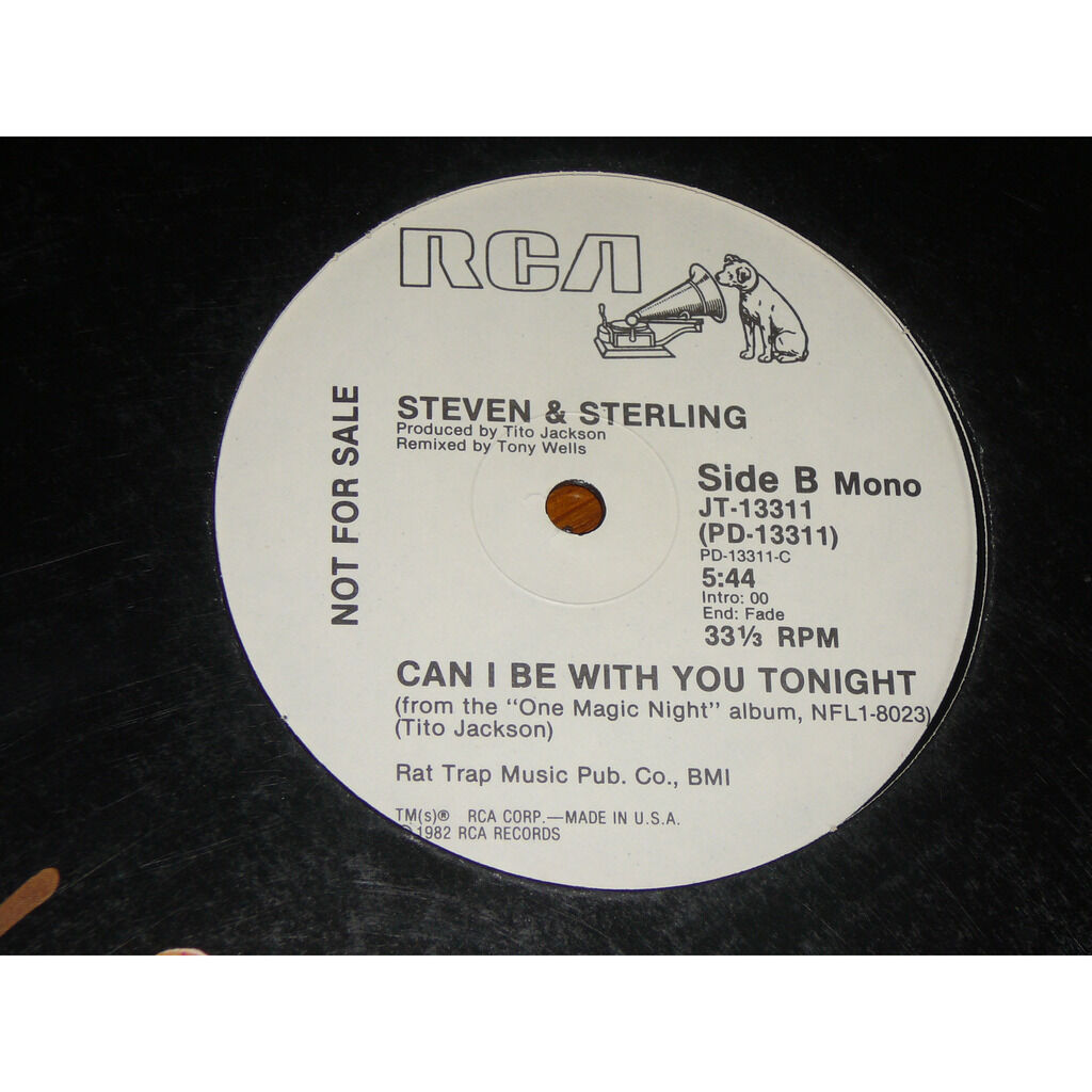 STEVEN & STERLING can i be with you tonight / mono