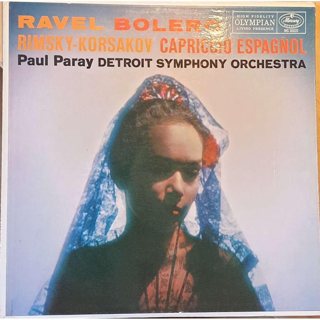 Paul Paray • Detroit Symphony Orchestra Capriccio Espagnol - Ravel Boléro - Rimsky-Korsakov