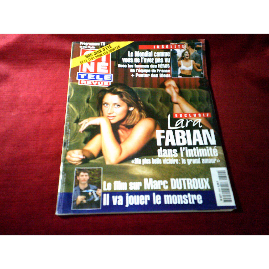 lara fabian CINE REVUE LE 16 JUILLET 1998 No 29