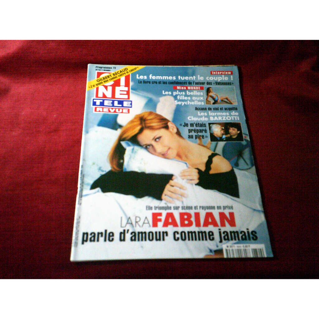 lara fabian CINE REVUE LE 3 DECEMBRE 1998 No 49