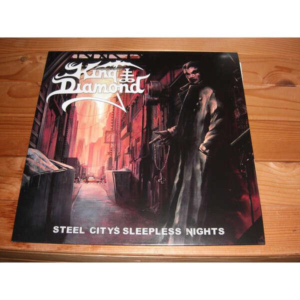 King Diamond Steel Citys Sleepless Nights (Clear Red & Blue Splatter)