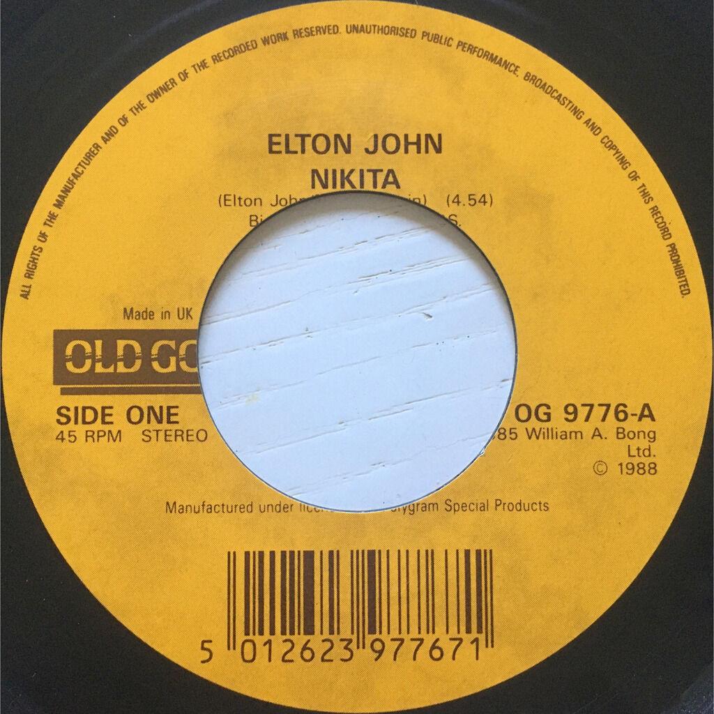 ELTON JOHN - NIKITA (U.K. PRESSING 2 TRK VINYL 7 SINGLE OLD GOLD SERIES)