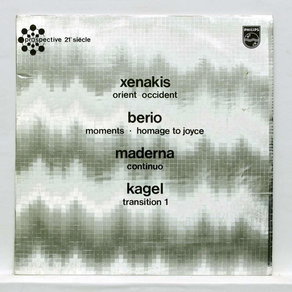 luciano berio / Bruno Maderna / Iannis Xenakis Luciano Berio: Momenti / Bruno Maderna: Continuo / Iannis Xenakis: Orient-Occident