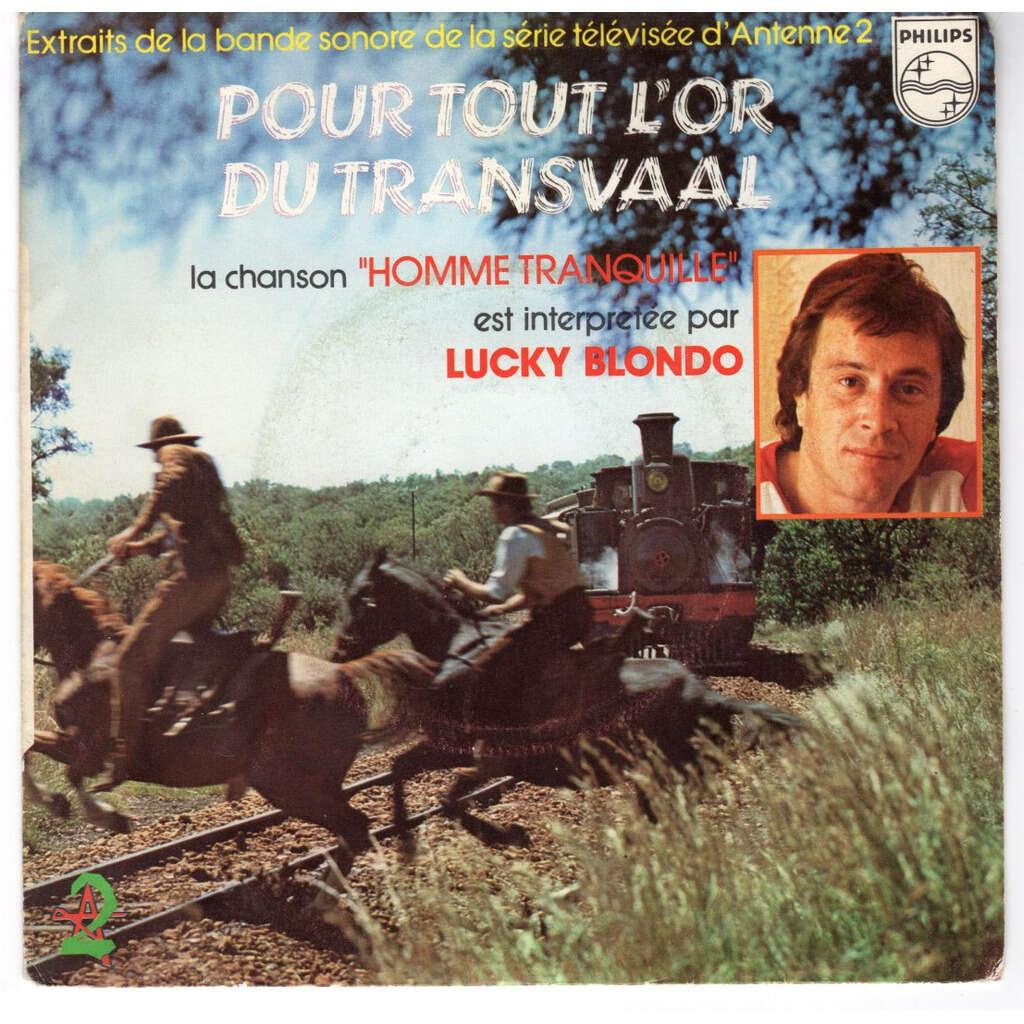 Lucky Blondo Pour tout l'or du Transvaal - label pvc bleu