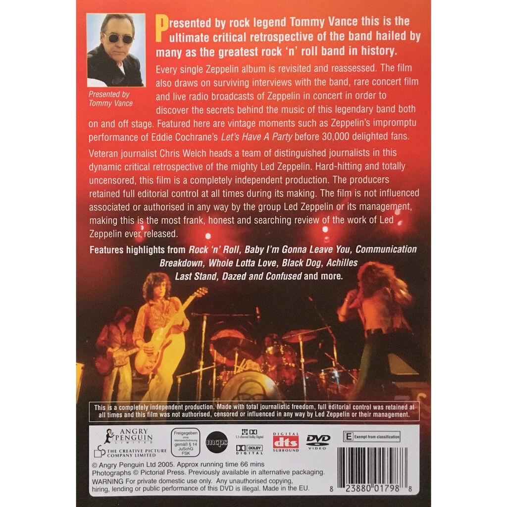 LED ZEPPELIN - A CRITICAL RETROSPECTIVE (EURO PRESSING 1 DVD)