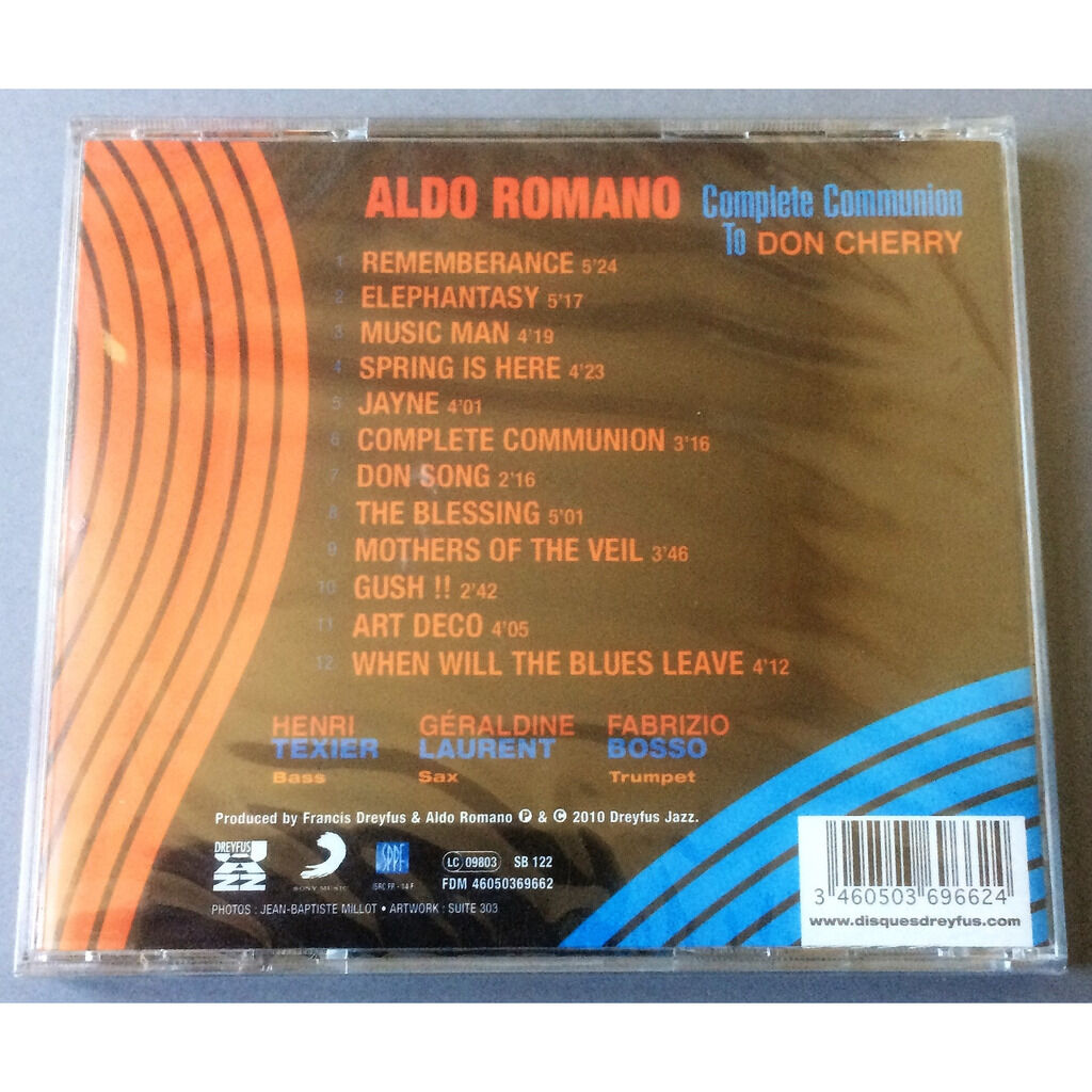 ALDO ROMANO COMPLETE COMMUNION TO DON CHERRY