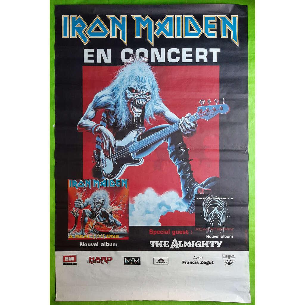 IRON MAIDEN A REAL LIVE ONE TOUR-(Limited édition)(Affiche de concert)(Officiel)(1993)(France).
