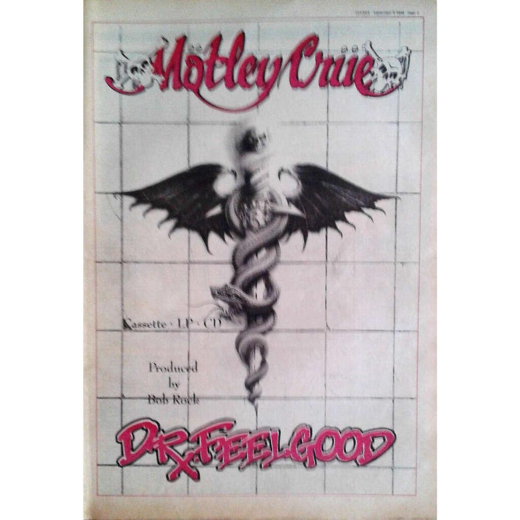 Motley Crue Dr. Feelgood (UK 1989 promo type advert 'Album release poster!)