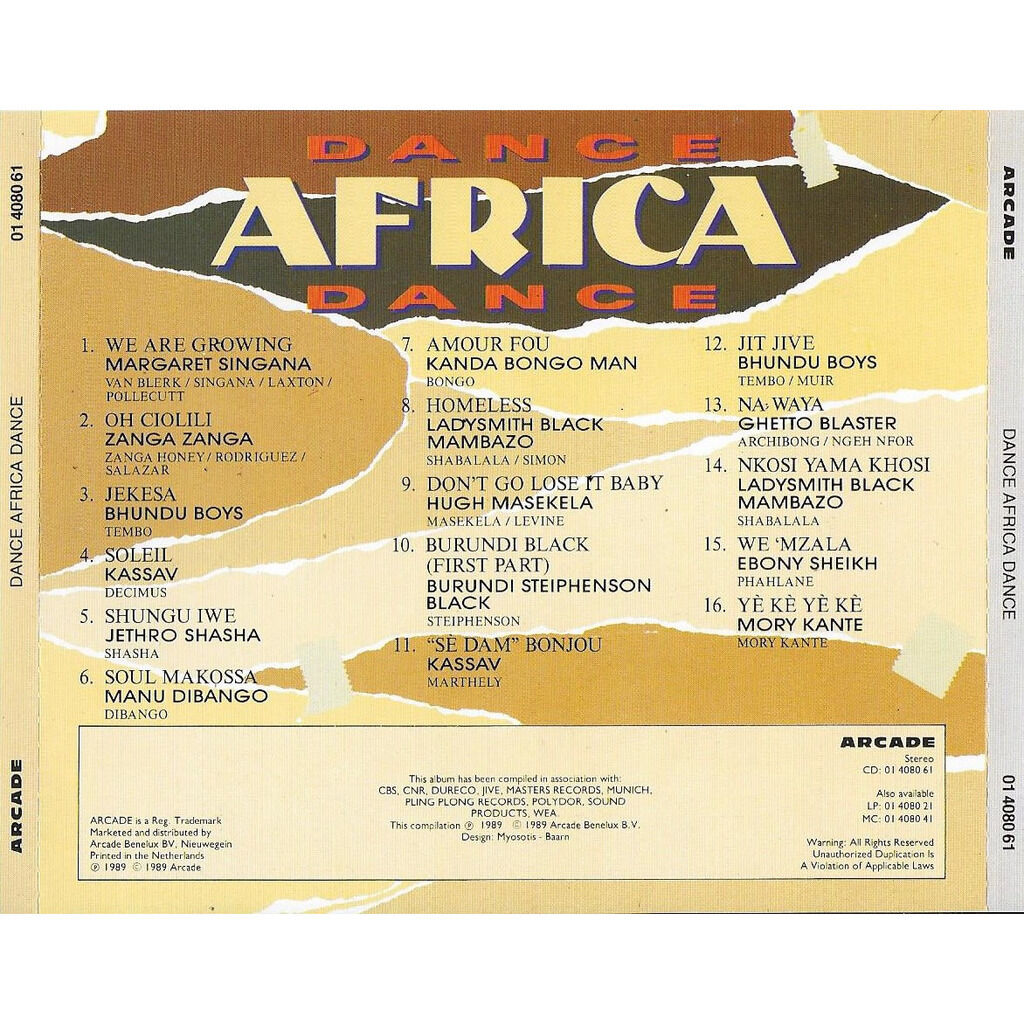 Manu Dibango , Ebony Sheikh , Margaret Singana Dance Africa Dance