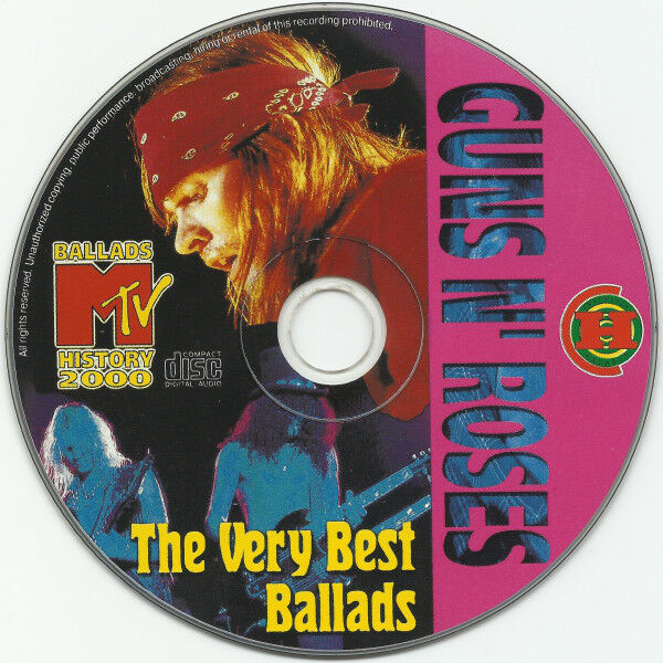 guns n' roses The Very Best Ballads (Russia-only 1999 Ltd 13-trk Cd on Invisible Halahup lbl unique ps)