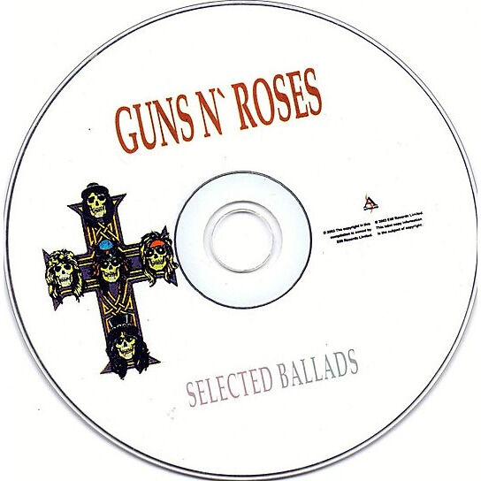 guns n' roses Selected Ballads (Russia-only 2003 Ltd 15-trk Cd on Artsound Records lbl unique ps)