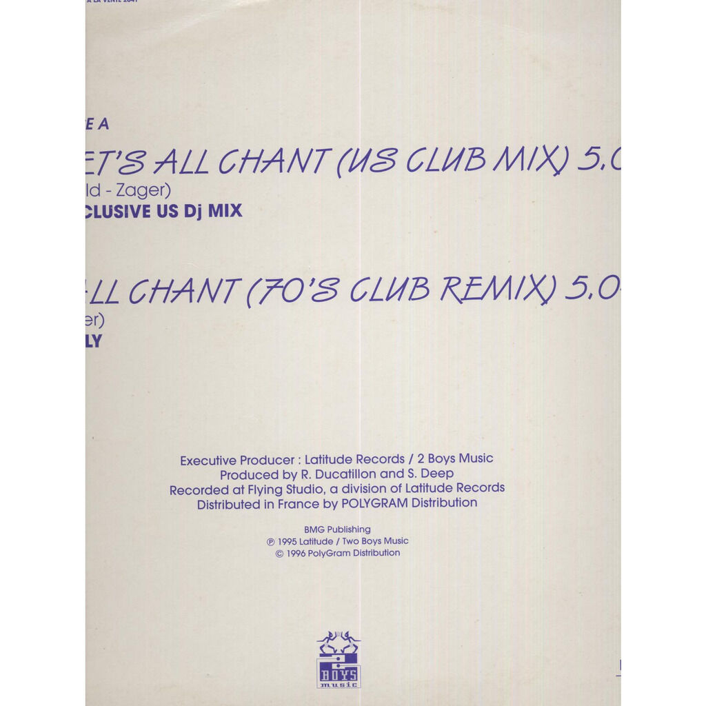 Mecanic MC's Rap All Chant (The US Mixes) - Promo