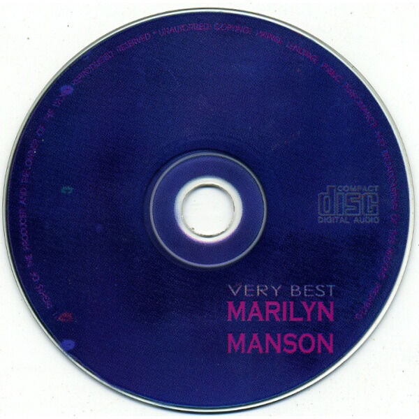 Marilyn Manson Very Best (Russia-only 1999 Ltd 17-trk Cd on Storm Records lbl unique ps)