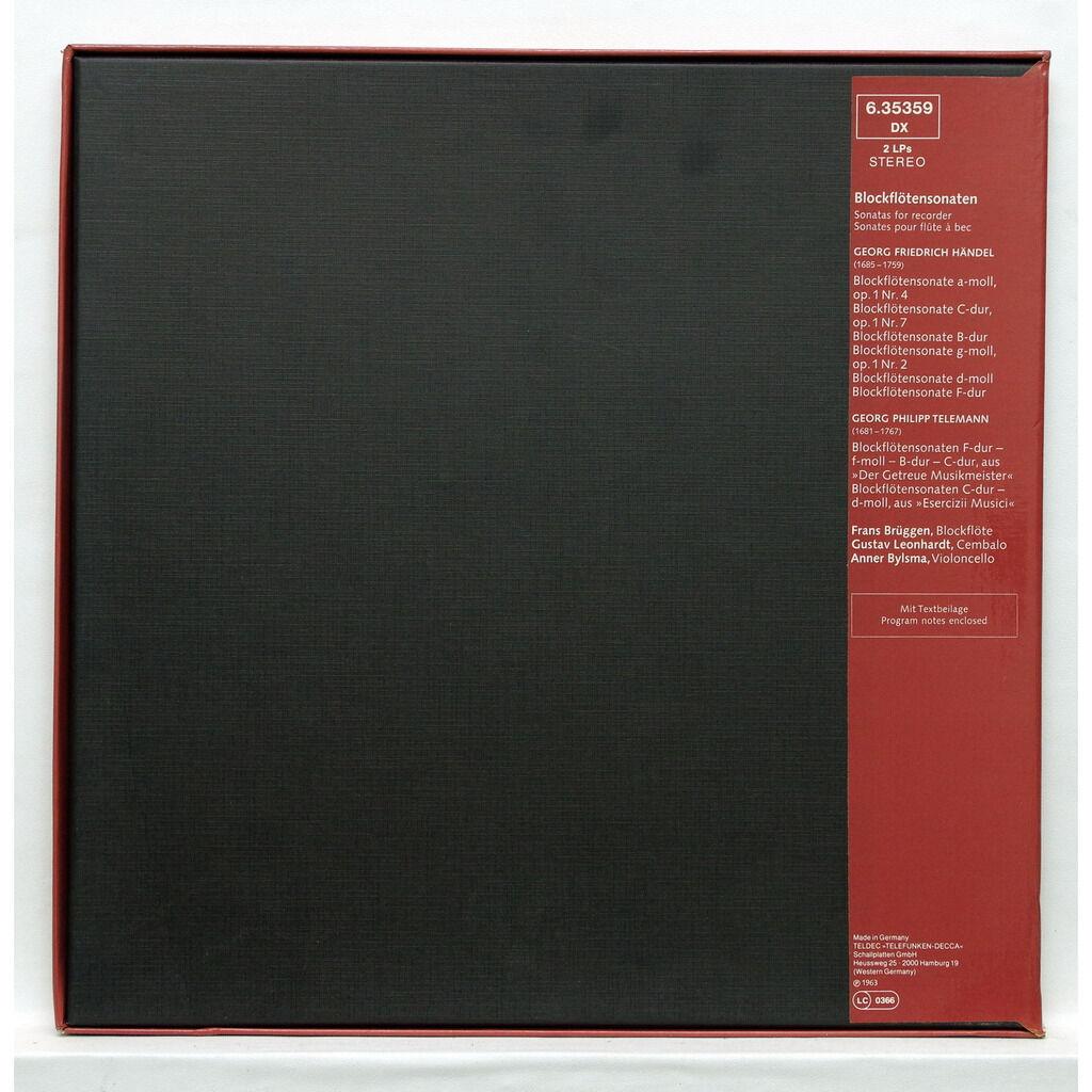 Frans Brüggen / Gustav Leonhardt / Anner Bylsma Händel / Telemann : Sonatas for recorder
