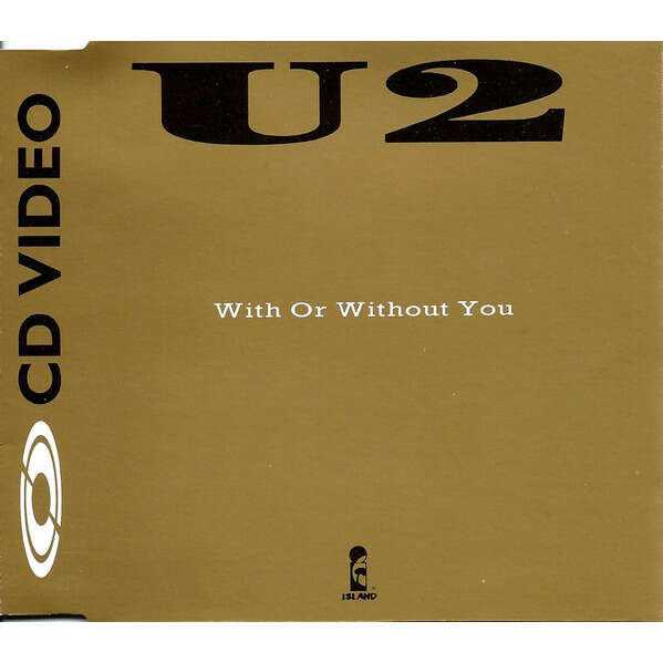 U2 With or without you.(USA 1987 promo-only CDV absolutely unique ps)