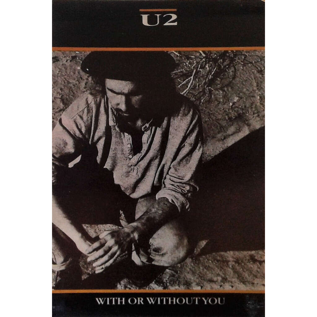 U2 With or without you.(French 1987 'Le Terme' promo 'single release' card!)