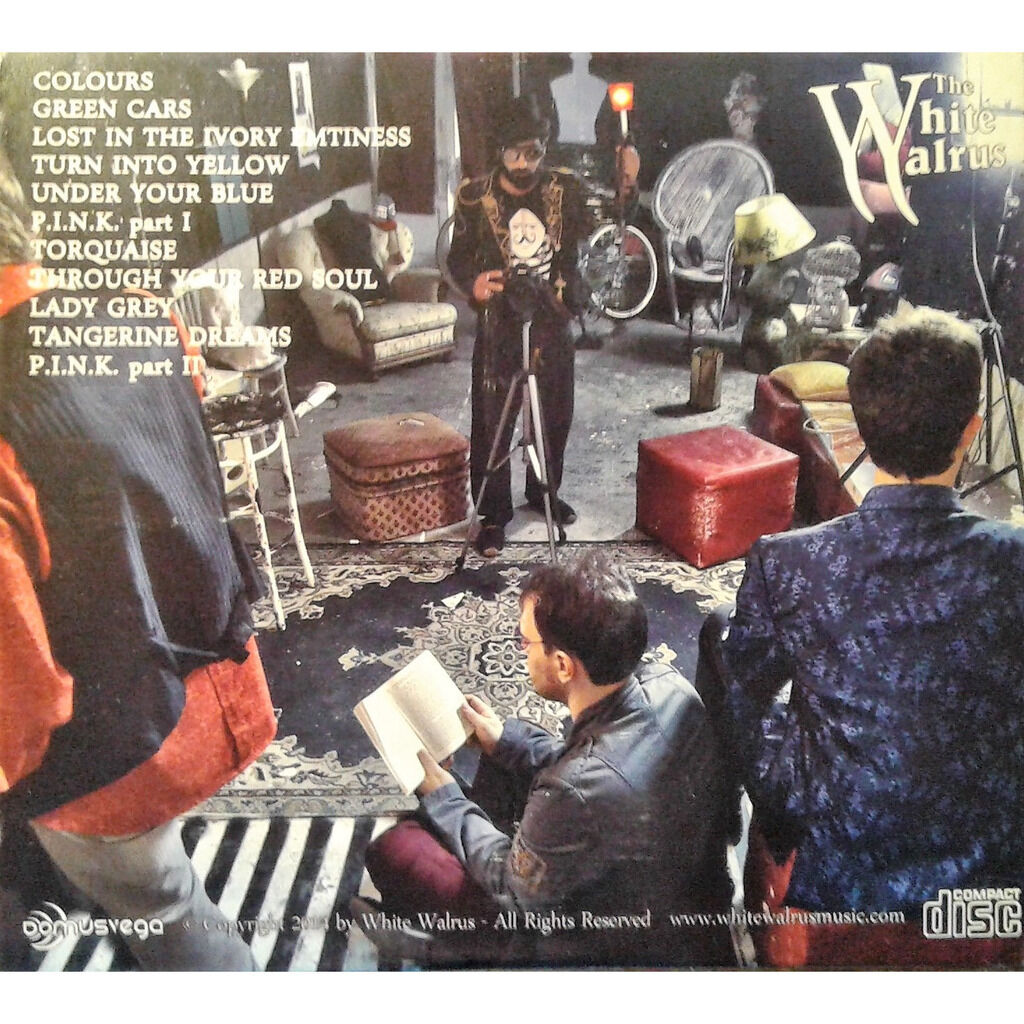 The White Walrus Colours (Italian 2015 autoproduction Ltd 11-trk CD on WW lbl card gf ps)