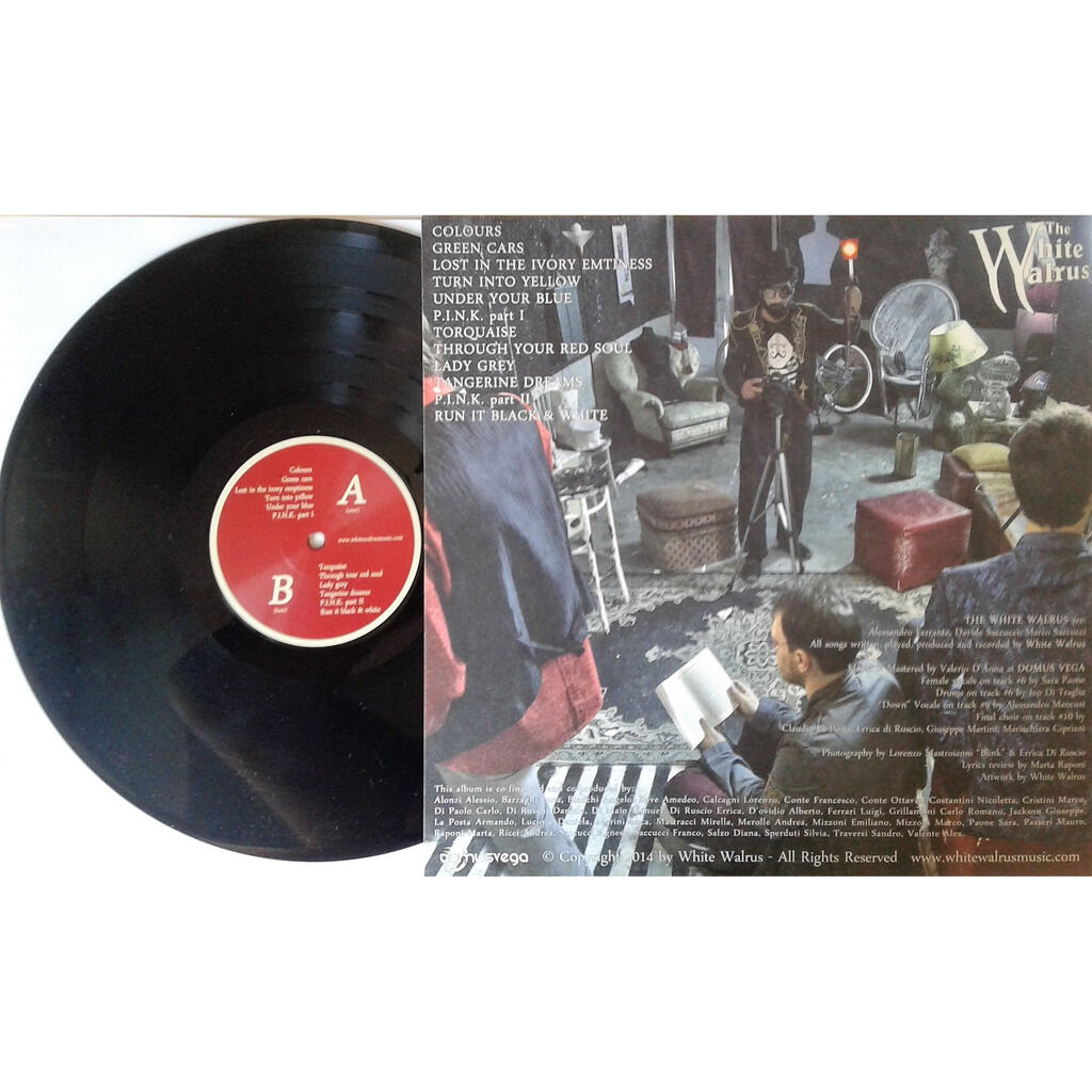 The White Walrus Colours (Italian 2015 autoproduction Ltd 200 copies 12-trk LP on WW lbl card gf ps)