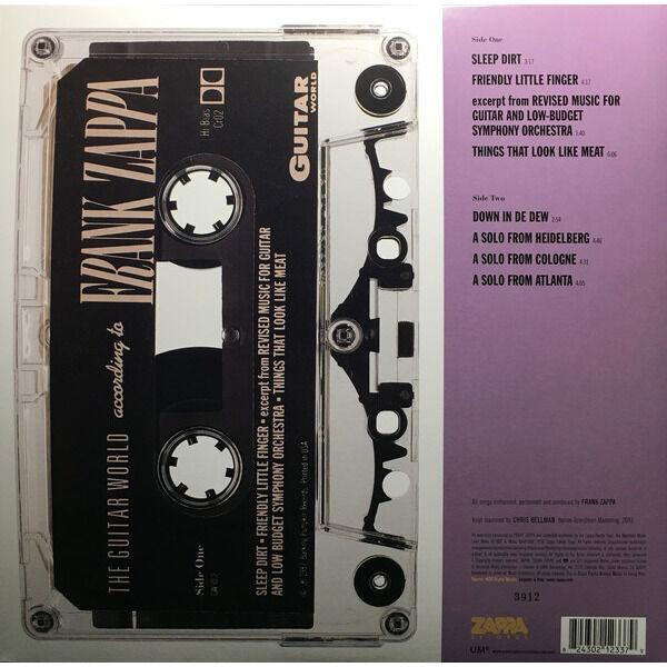 Frank Zappa The Guitar World According To Frank Zappa (Euro 2019 Ltd 8000 copies 'RSD' CLEAR wax LP gf ps)