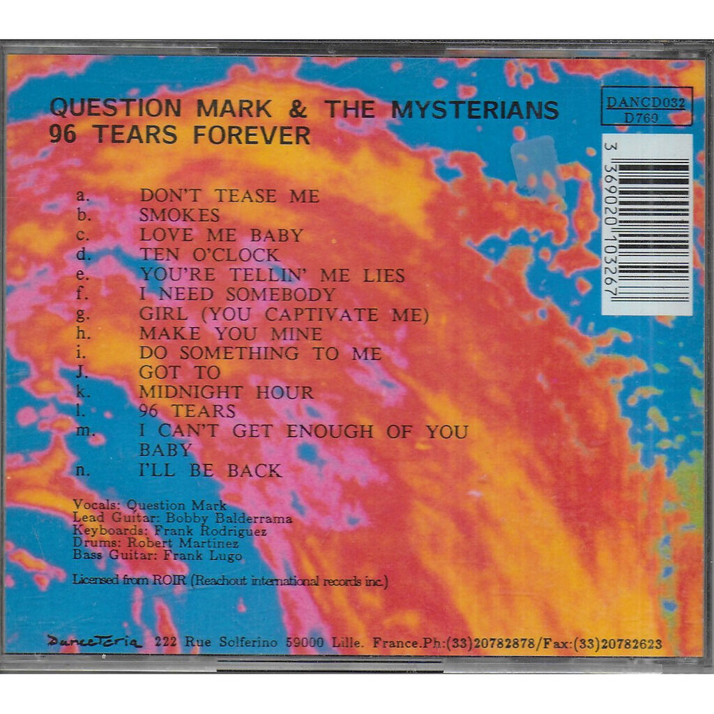 QUESTION MARK AND THE MYSTERIANS 96 Tears Forever