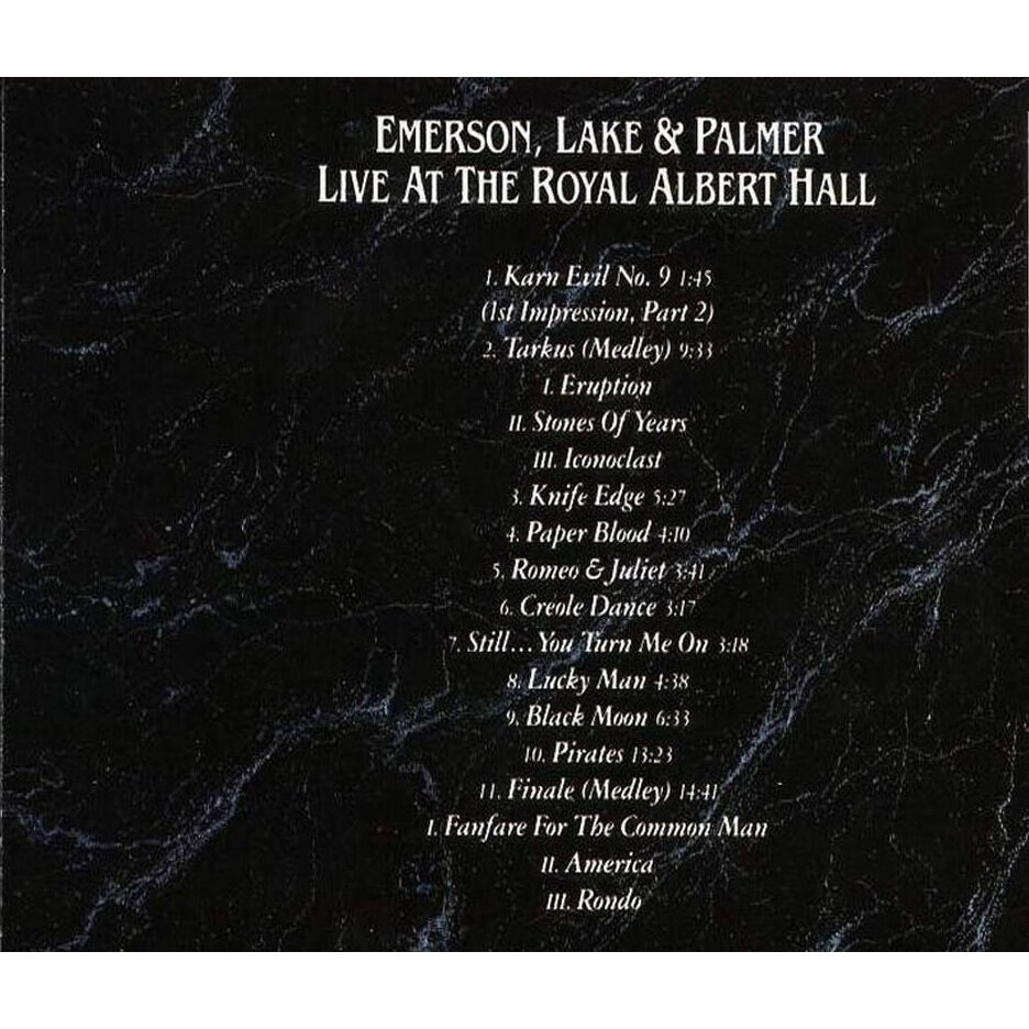 Emerson,Lake & Palmer Live At The Royal Albert Hall