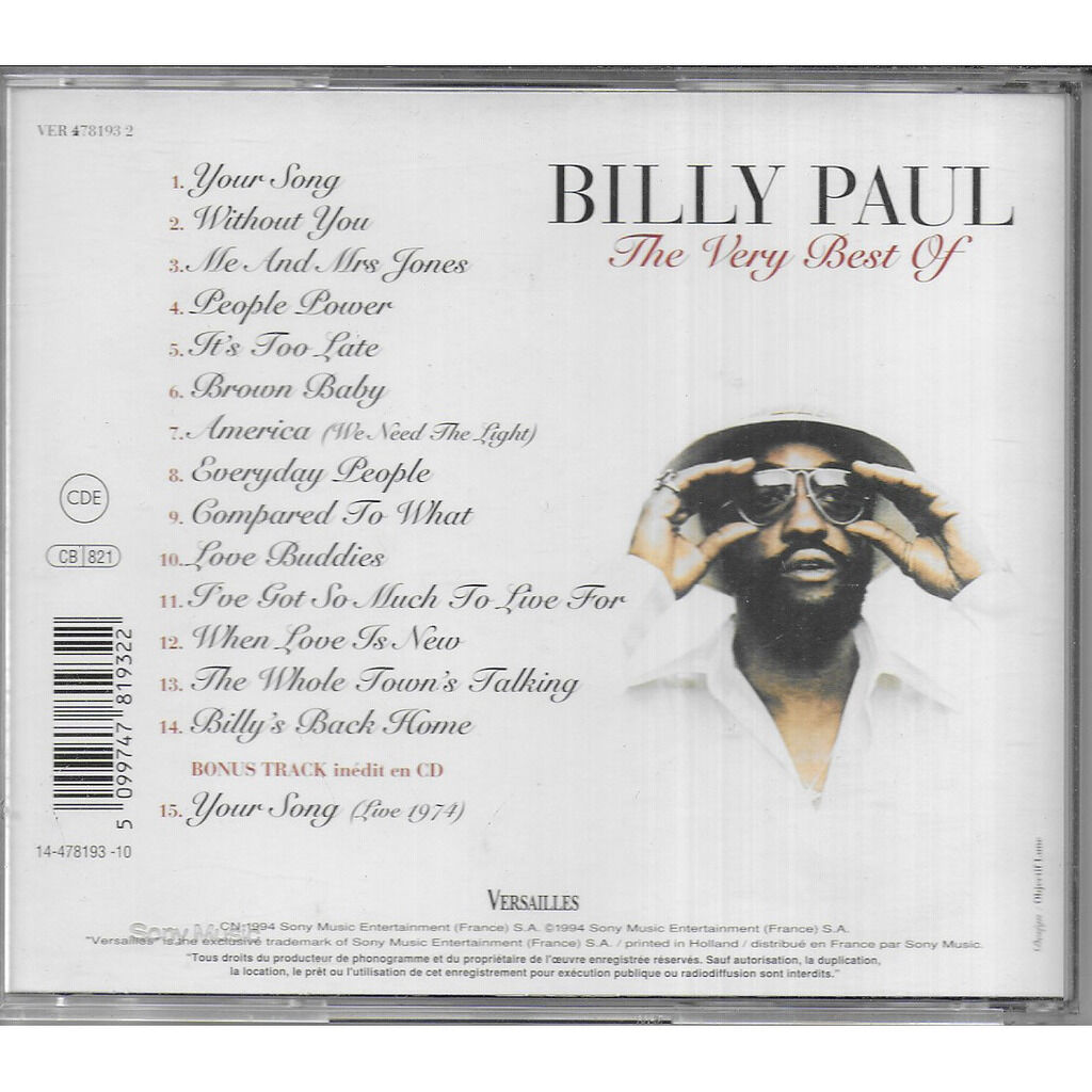 Billy PAUL The Very Best Of