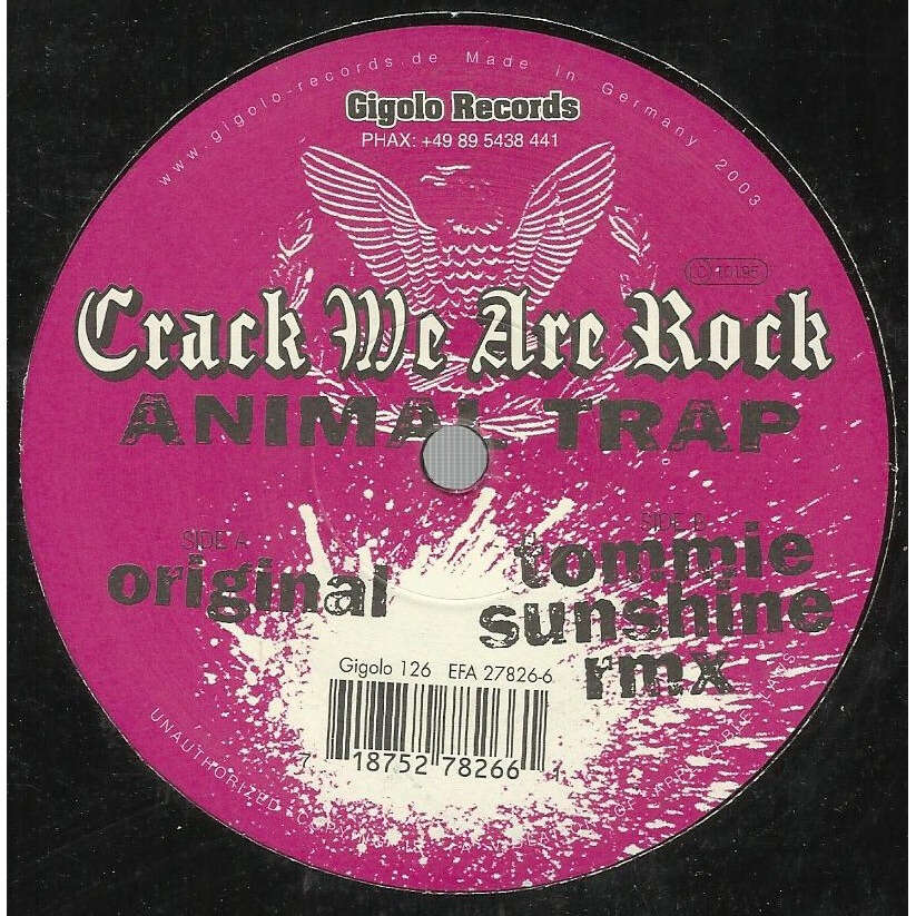 CRACK WE ARE ROCK animal trap - 2mix
