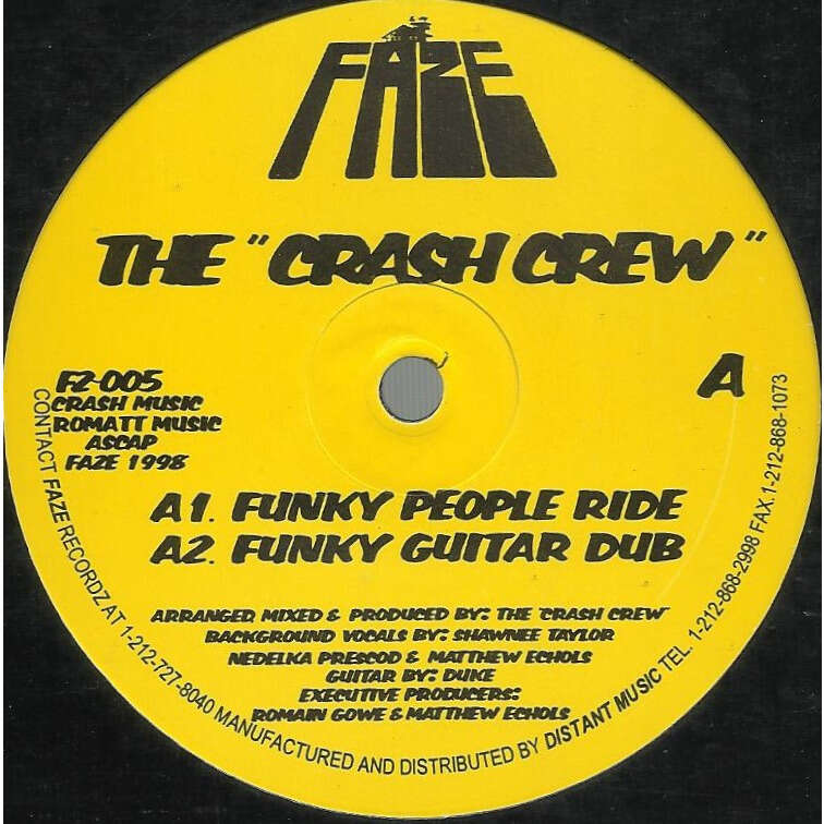 CRASH CREW funky people ride / funky guitar dub / say yeah / juno flipp'n
