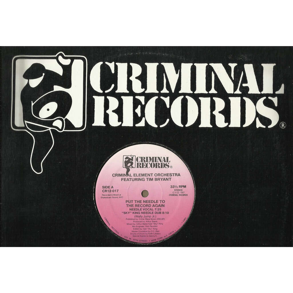 CRIMINAL ELEMENT ORCHESTRA (feat. Tim BRYANT) put the needle to the record again - 4mix