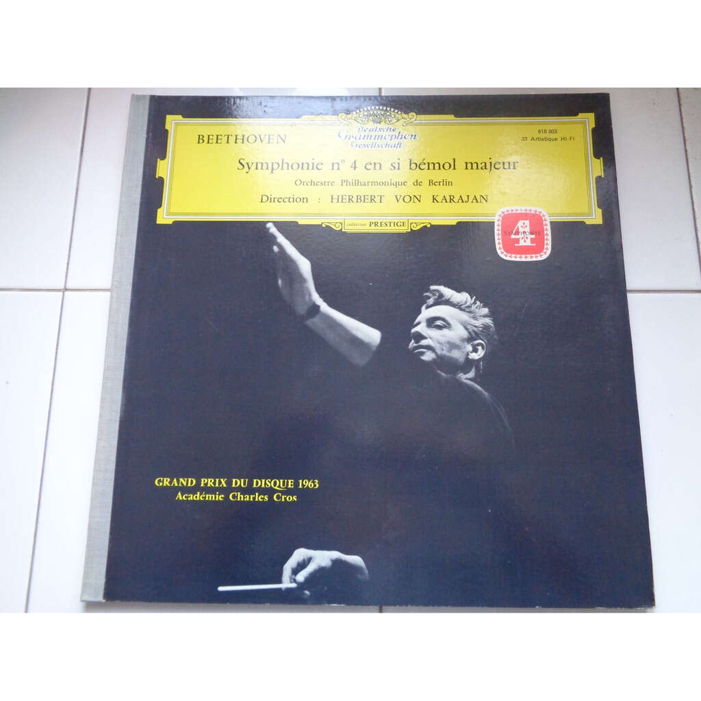 Beethoven Karajan : Symphonie Nr.4 - ( tulip near mint condition )
