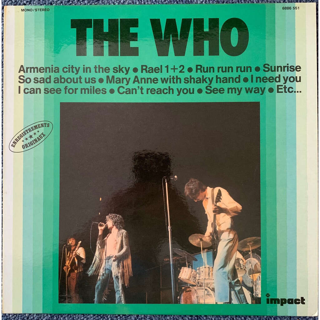 THE WHO enregistrements originaux