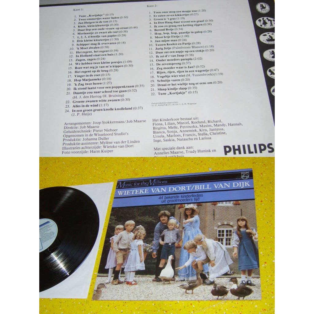 Wieteke van Dort / Bill van Dijk 44 Bekende Kinderliedjes Uit Grootmoeders Tijd