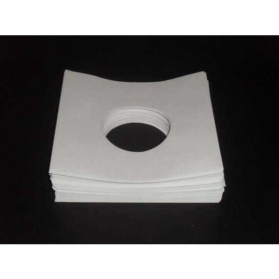 7 White Paper SleevesPack of 50 7 Record Sleeve Pack of 50 7 Record Sleeves 45rpm White Paper