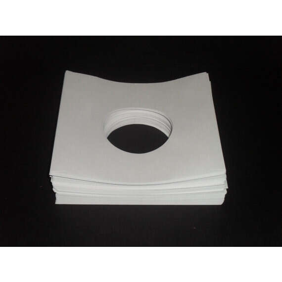 7 White Paper SleevesPack of 100 7 White Paper SleevesPack of 100 7 Record Sleeves 45rpm White Paper