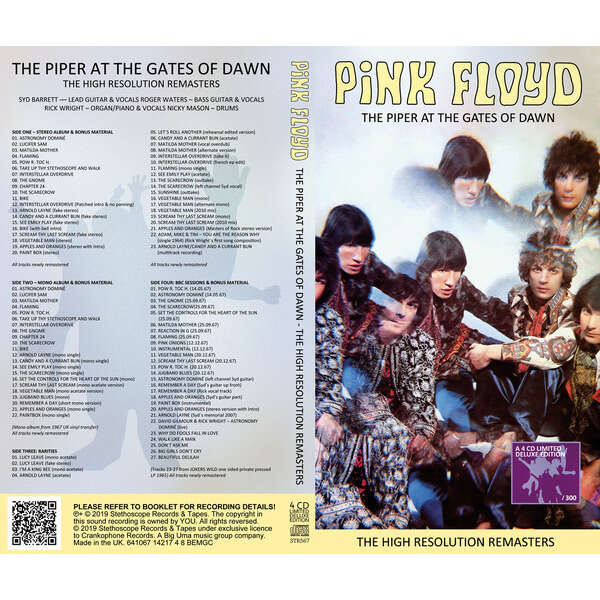 Pink Floyd 4CD The Piper At The Gates Of Dawn-High Resolution Remasters
