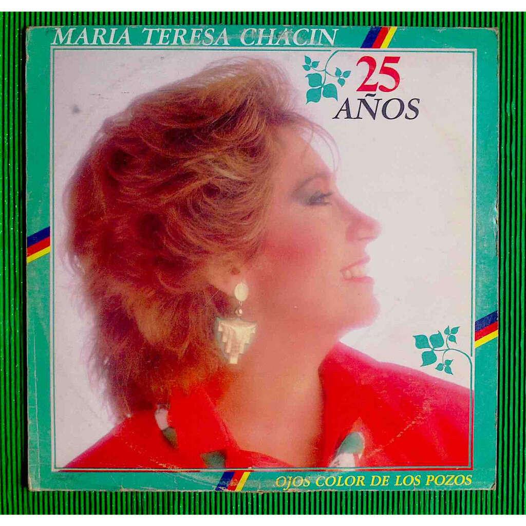 María Teresa Chacín Ojos Color de los Pozos - 25 Años