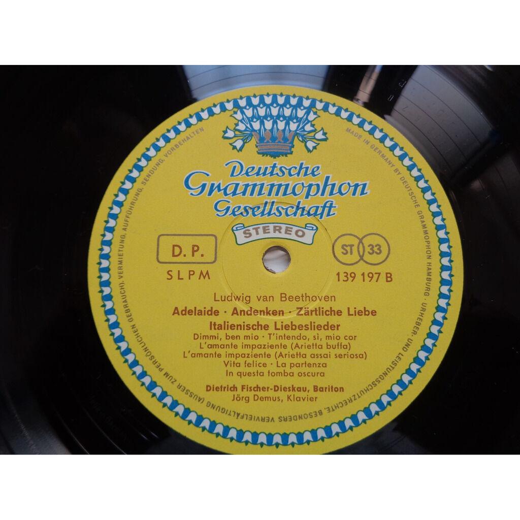 Beethoven - Fischer-Dieskau - Demus Beethoven Lieder : An Die Ferne Geliebte, Op 98 - Adelaïde - Italienische Liebeslieder