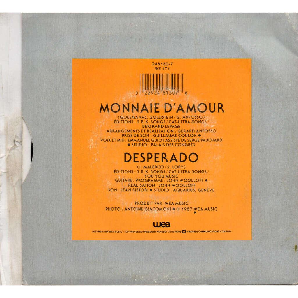 Sabrina Lory Monnaie d'amour / Desperado