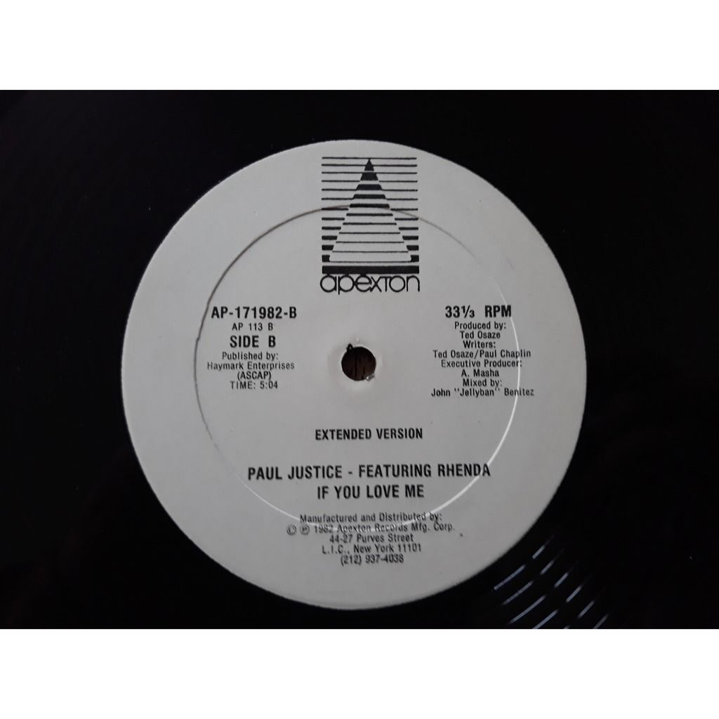 Paul Justice Featuring Rhenda - If You Love Me Paul Justice Featuring Rhenda - If You Love Me