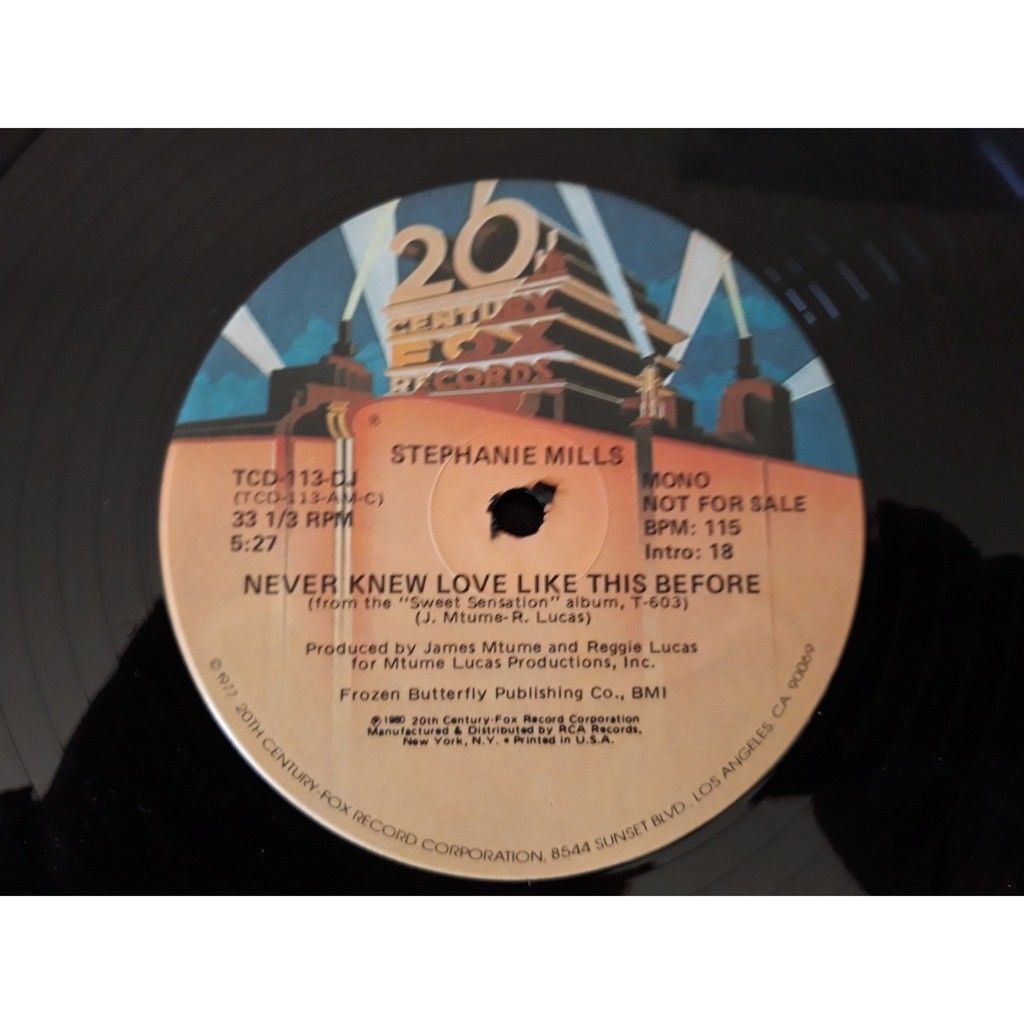 Stephanie Mills - Never Knew Love Like This Before Stephanie Mills - Never Knew Love Like This Before (12, Promo)
