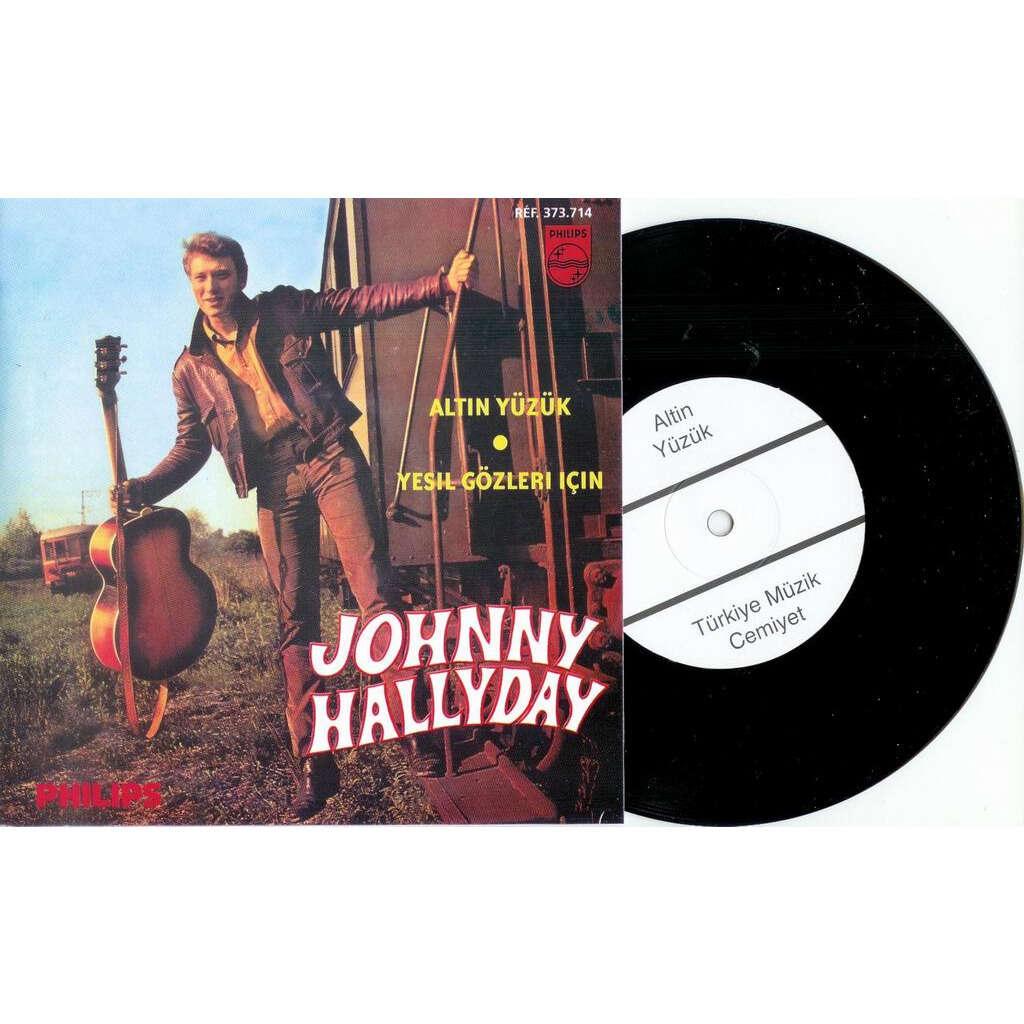 Johnny HALLYDAY altin yuzuk turc réédition rare mint