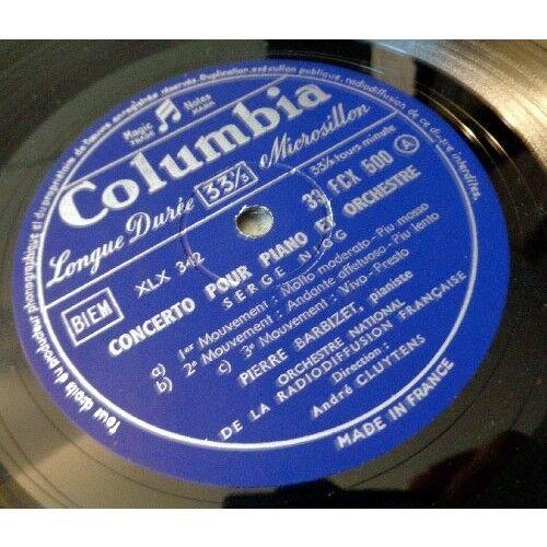 ANDRE CLUYTENS & PIERRE BARBIZET & ANDRE JOLIVET SERGE NIGG Concerto pour piano ANDRE JOLIVET Concerto pour flute / Cto pour trompette