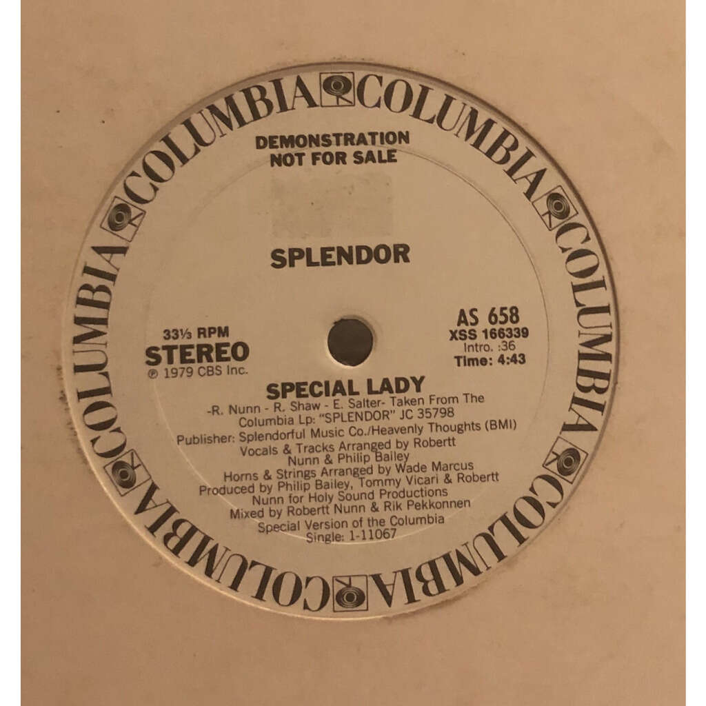SPLENDOR special lady / take me to your disco