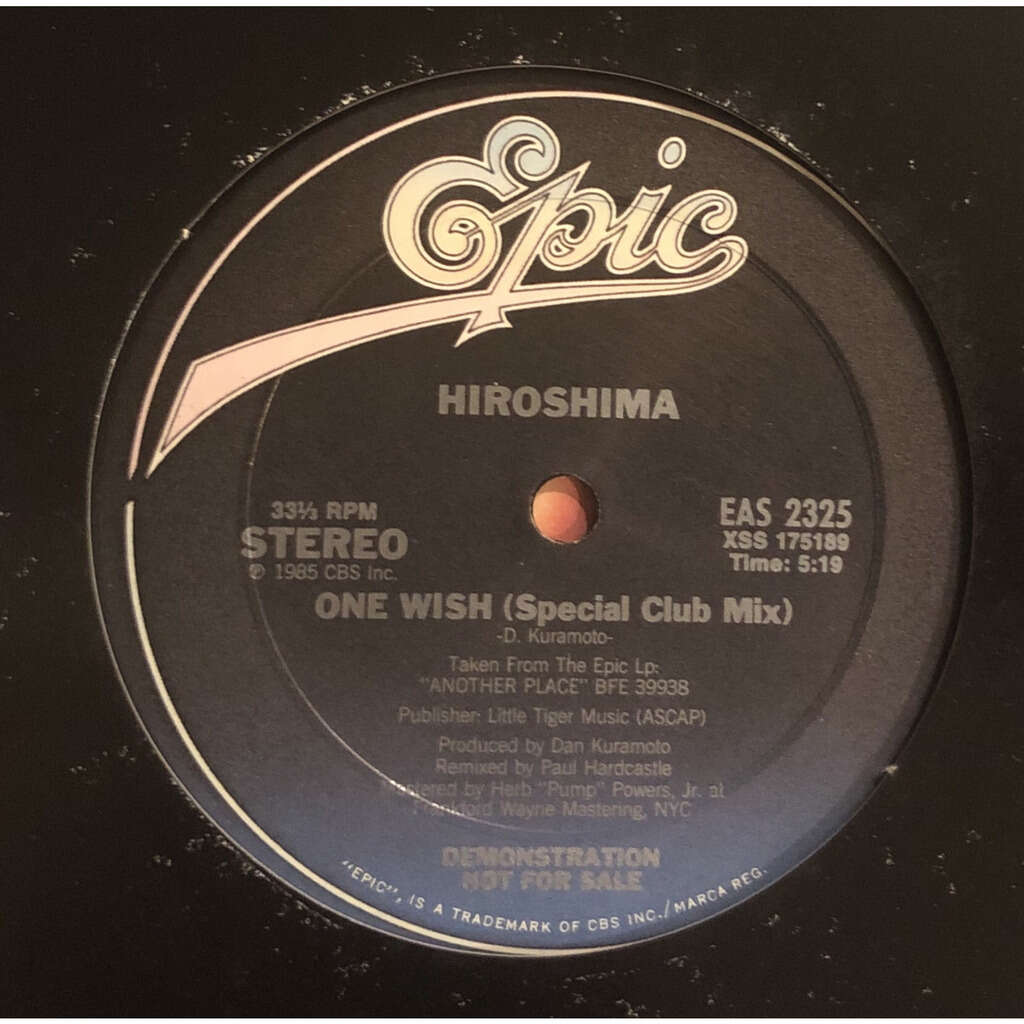 HIROSHIMA one wish special Paul hardcastle mix / dub