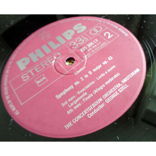 GEORGE SZELL & CONCERTGEBOUW AMSTERDAM SIBELIUS Symphony n°2