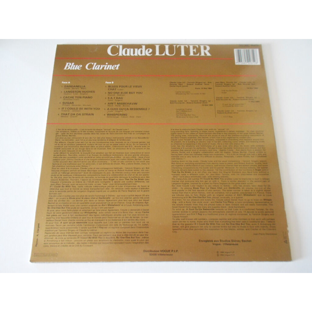 claude luter blue clarinet