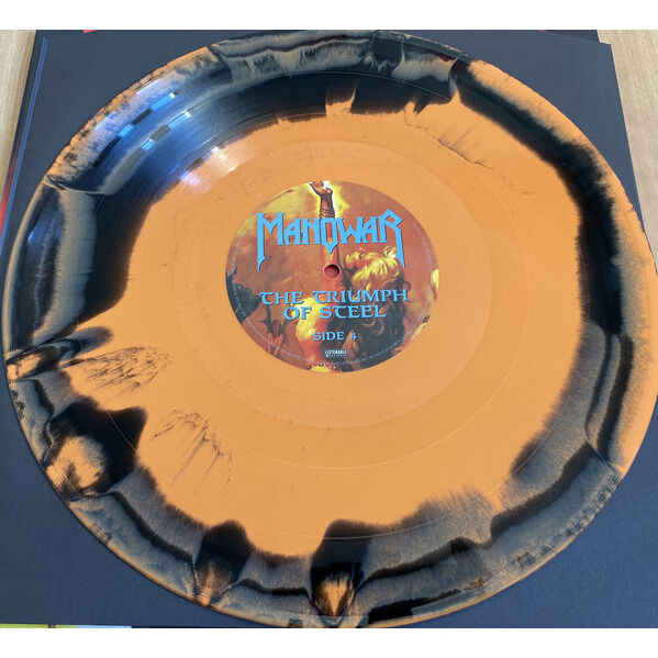 Manowar The Triumph Of Steel (Orange/Black Marbled)