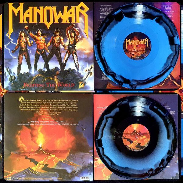Manowar Fighting The World (Blue/Black)